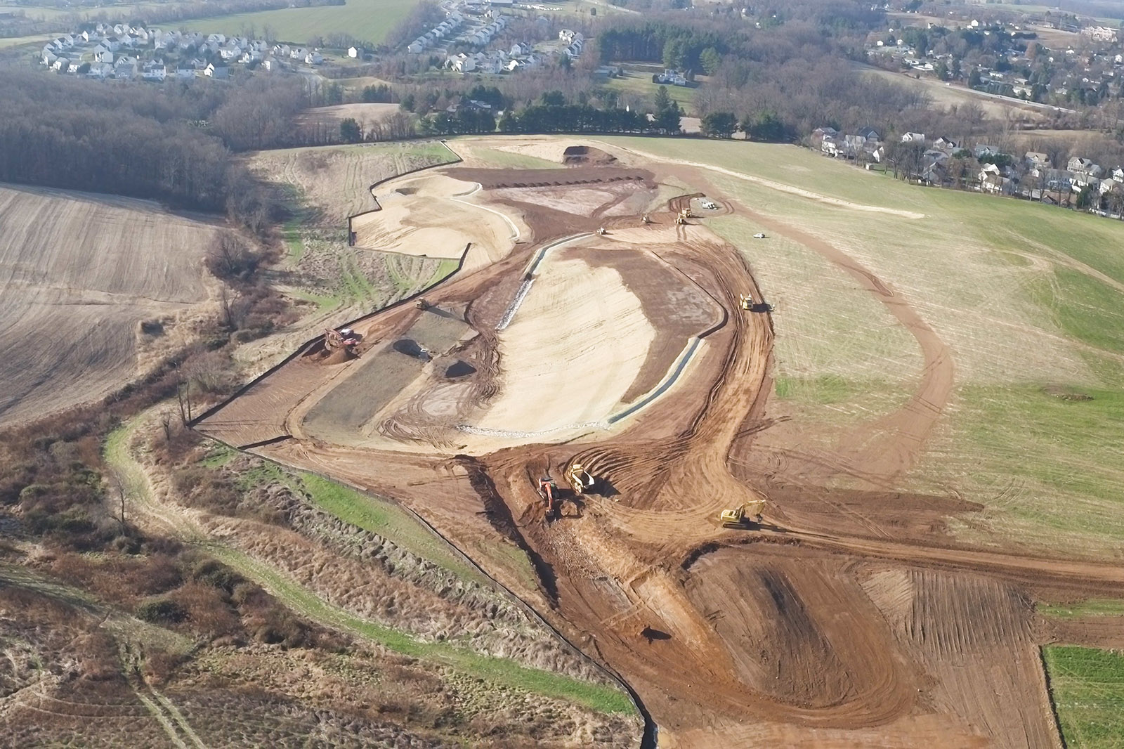An overall photo of the C.J. Miller Stonegate project