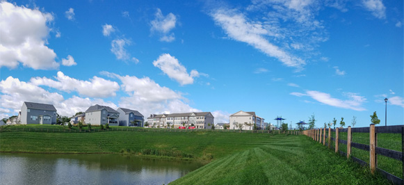 Photo of the new homes at Tallyn Ridge